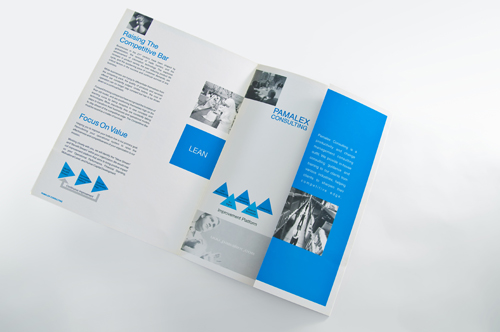 Pamalex consulting pamalex brochure design 2 colours for Design consultancy company profile