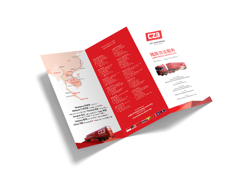 Leaflet Design For City Zone Express